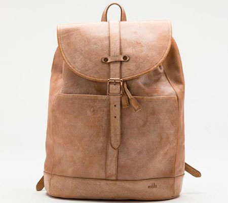 モブリス Wax Leather Rucksack