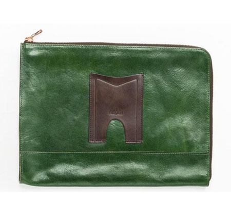 モブリス Aniline Leather Clutch Bag