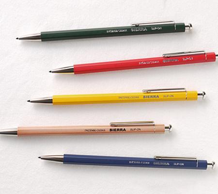 スリップオンのシャーペン 木軸ペンシル