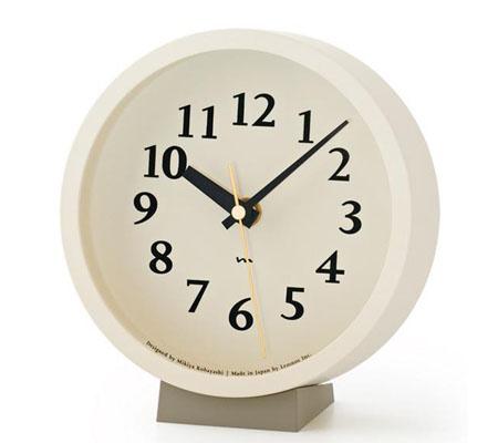 レムノス m clock 電波時計 置き時計