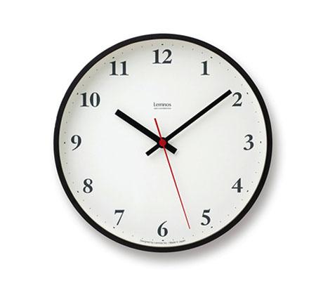 レムノス Plywood clock 電波時計 掛け時計 小型