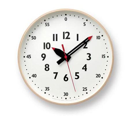レムノス fun pun clock M 掛け時計