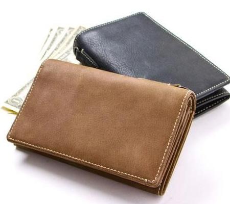 コルボ Curious レザー小銭入れ付き二つ折り財布