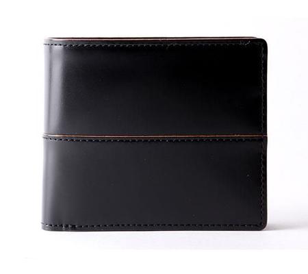 コンプレックスガーデン 枯淡 小銭入れ付ガラス加工レザー二つ折り財布