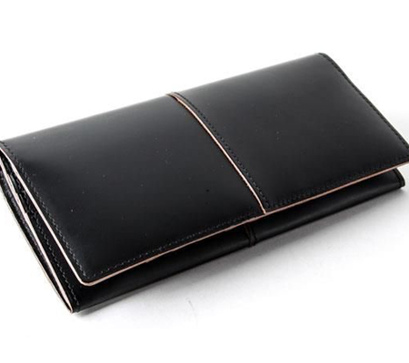 コンプレックスガーデン 枯淡 ファスナーポケット付ガラス加工レザー長財布