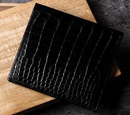 比留間の二つ折り財布 スモールクロコダイル無双札入れ