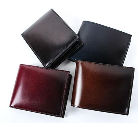 ユハク コードバン 二つ折り財布 YAC132