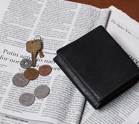 ヒズファクトリー 二つ折り財布 coprire 小銭入れ付き HIS-FACTORY