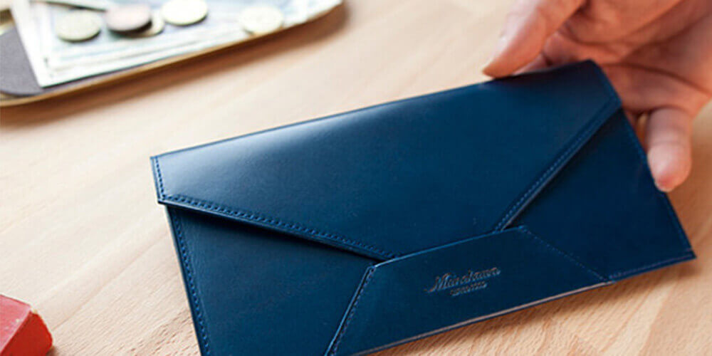 ムネカワ 薄型長財布
