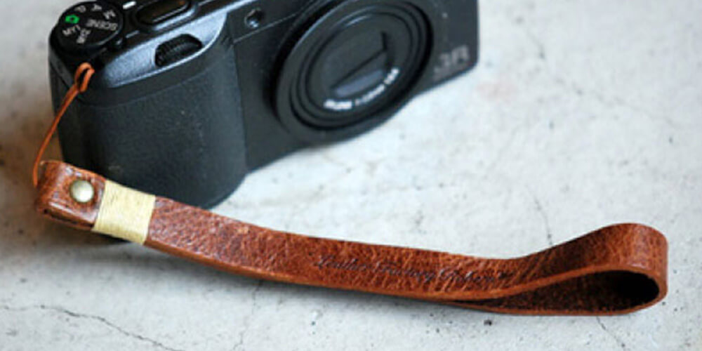 ロベル カメラストラップ レザー ハンドストラップ クラシックブラウン