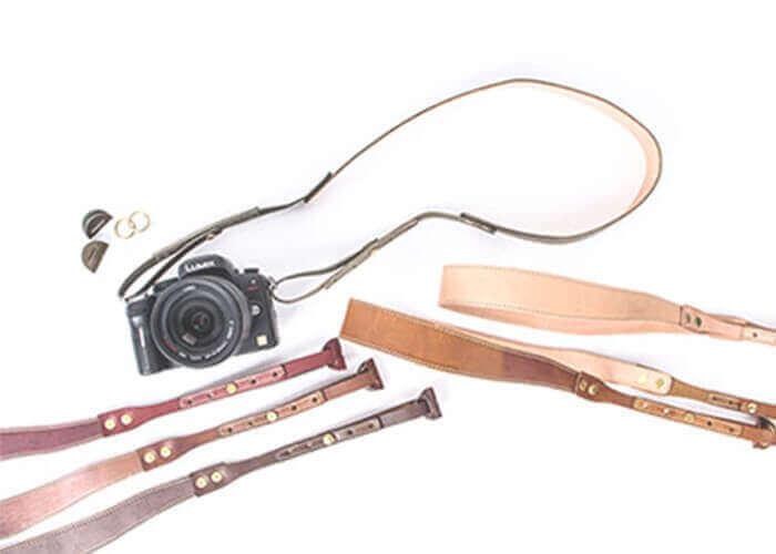 ブラウンブラウン レザー カメラストラップ
