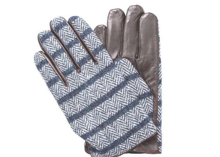 ヘミングスの手袋 ハリスツイード mens glove
