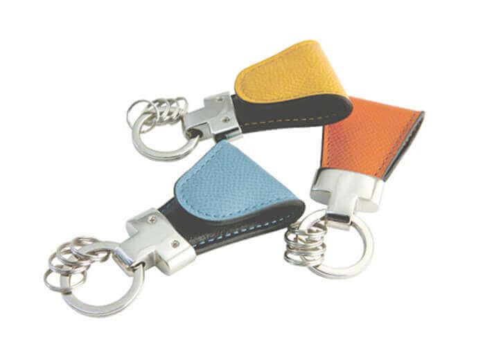 ヴィンテージ キーリング Key Clip Calf