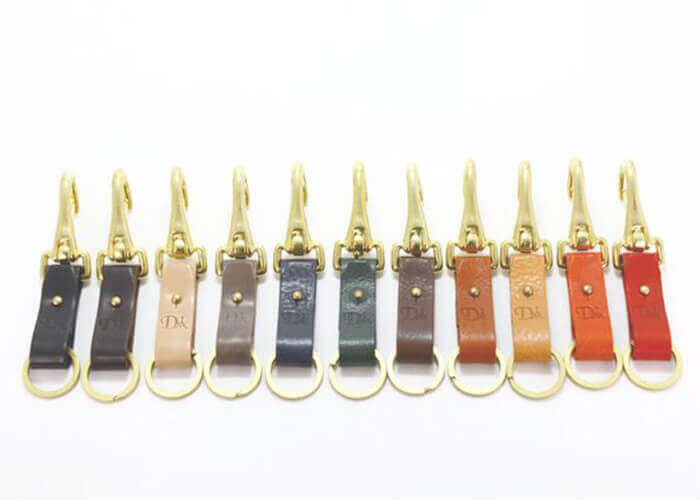 ディアージ キーリング BRASS&LEATHER BOTTLE KEYRING