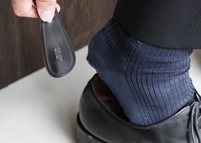 フェソン 靴べら コードバン 靴べらキーホルダー