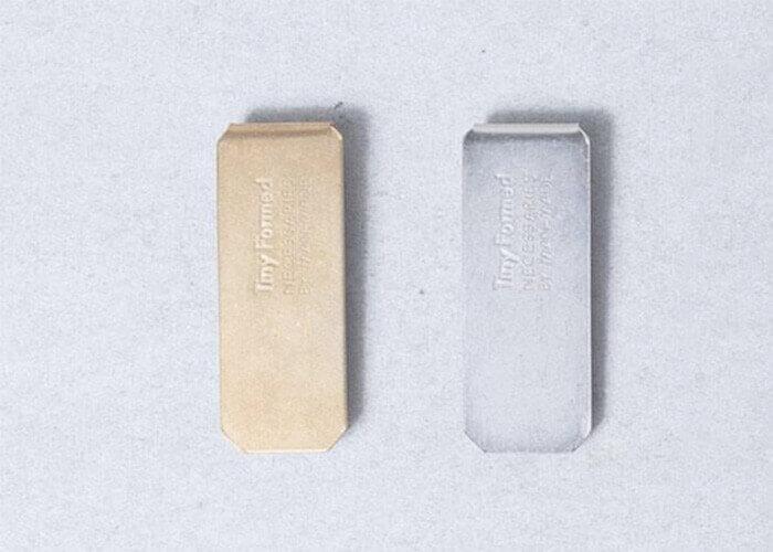 タイニーフォームド マネークリップ Tiny metal money clip
