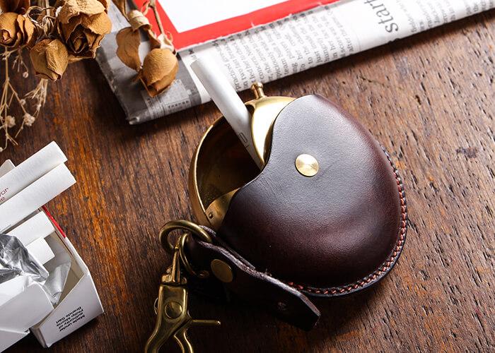 クランプの携帯灰皿 レザーマルチケース