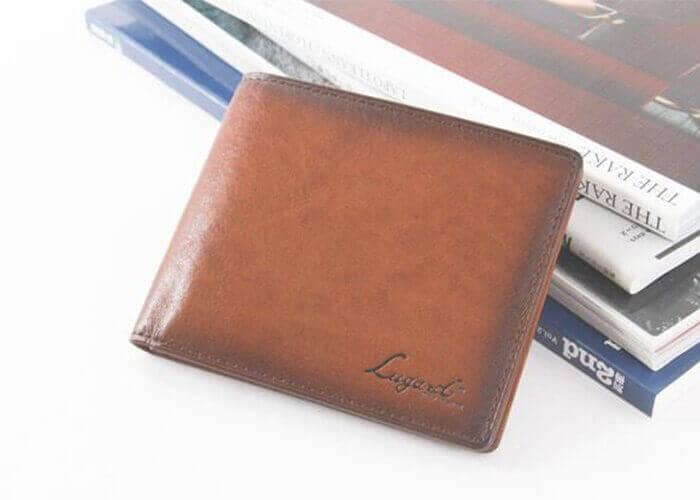 ラガード 札入れ G-3  シャドー仕上げ カード入れ付 二つ折り財布