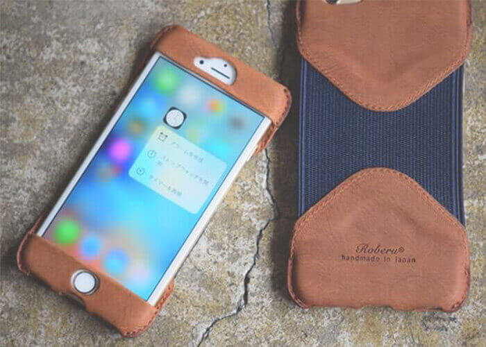 ロベル スマホケース iPhone6Plus Case Shading Leather & Rubbe