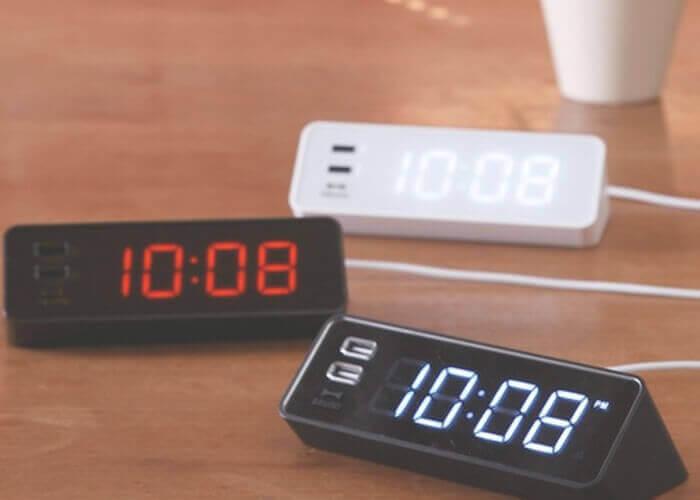 ブルーノの置き時計 LED クロック with USB