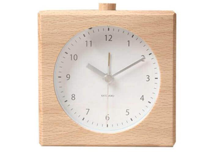 加藤木工の置き時計 積み木 アラーム