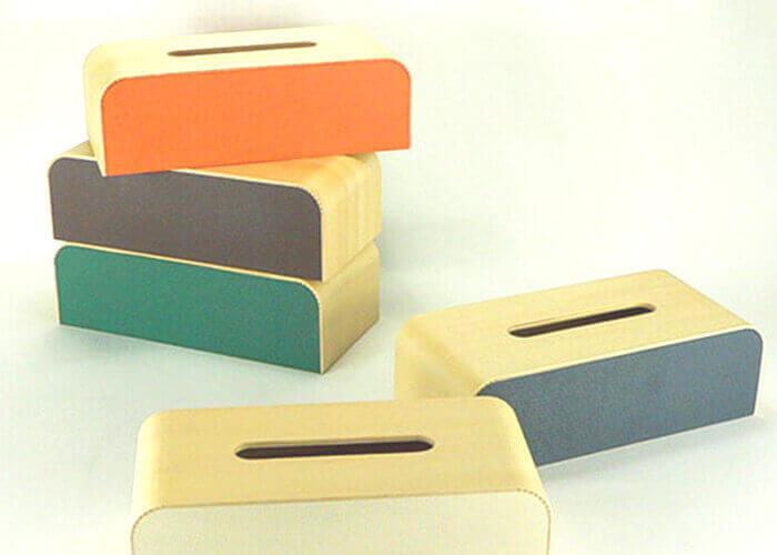 ヤマト工芸のティッシュケース COLOR BOX