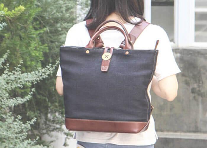 ビアベリーのトートバッグ backTOTEpackS