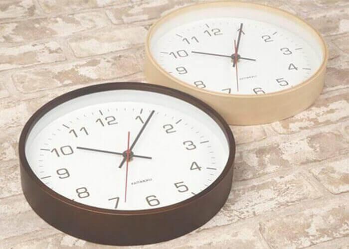 加藤木工の掛け時計 plywood clock 4