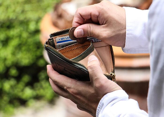 ビアベリー 二つ折り財布 SMALL ROUND WALLET
