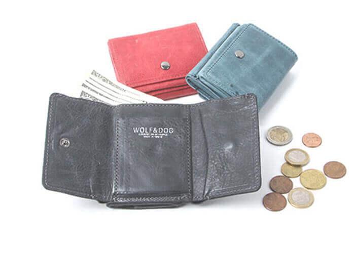 ウルフ&ドッグ 三つ折りコンパクト財布 ホワイトホース