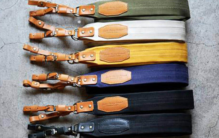 ロベル カメラストラップ 帆布 6colors