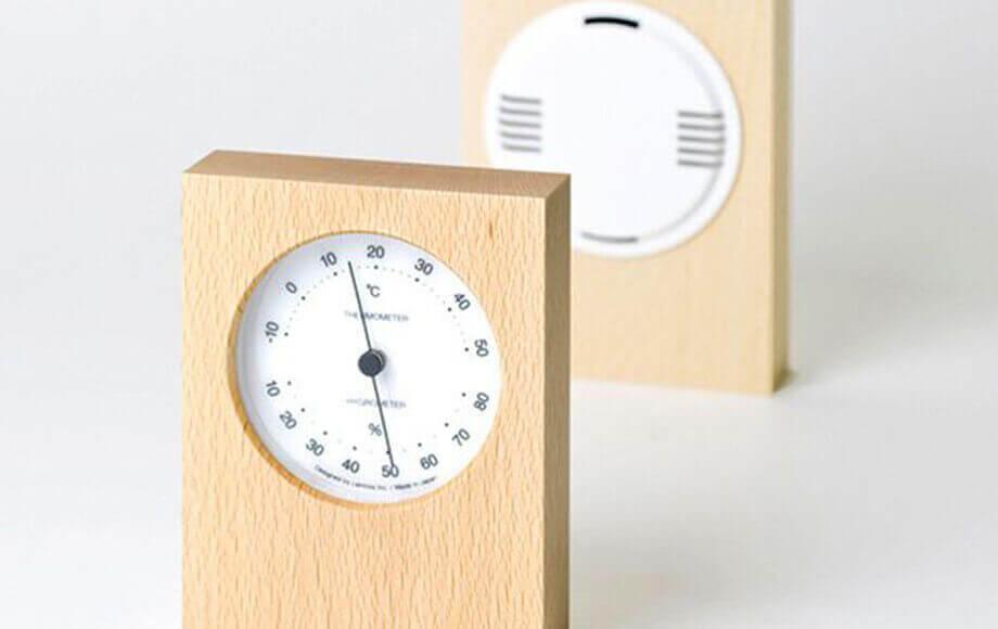 レムノスの置き時計 DUO 温湿度計