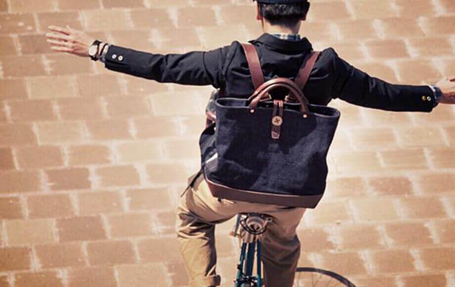 ビアベリーのトートバッグ backTOTEpack