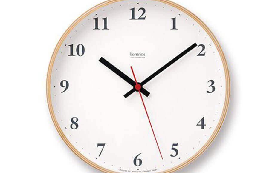 レムノスの掛け時計 Plywood clock