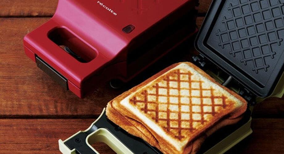 レコルト プレスサンドメーカー キルト トースター