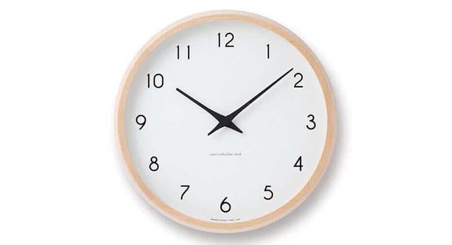 レムノス Campagne 電波掛け時計