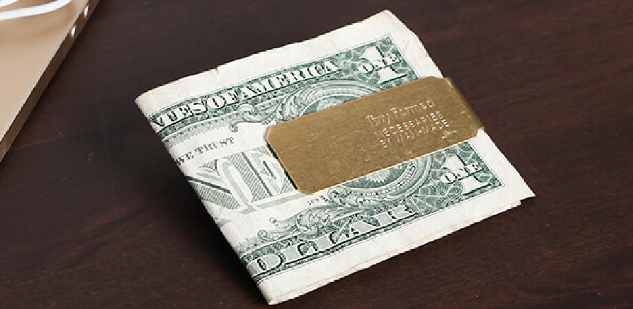 タイニーフォームド Tiny metal money clip マネークリップ Tiny Formed