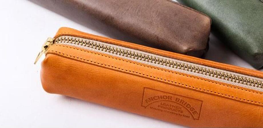アンカーブリッジ ペンケース Waxed Leather
