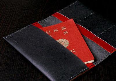 カクラの通帳&パスポートケース urushi ブラック