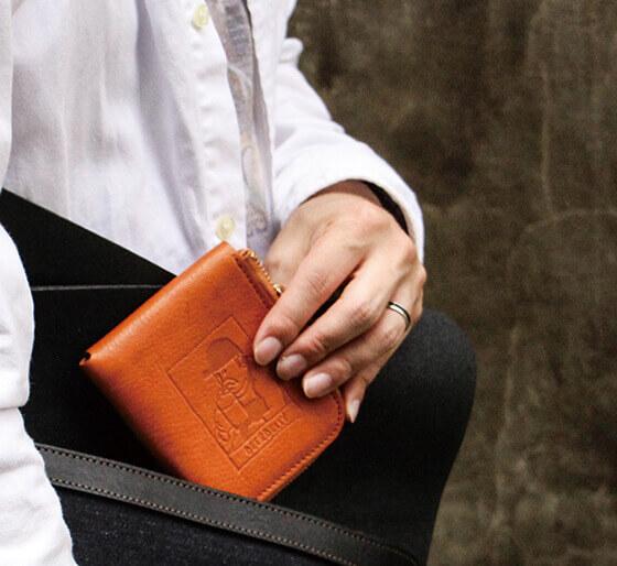 ビアベリー スモールラウンドウォレット 二つ折り財布